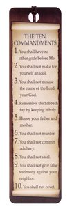 Bookmark With Tassel and Charm: The Ten Commandments