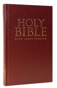KJV One Year Reading Plan Bible Burgundy Red Letter Edition
