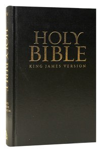 KJV Standard Size Bible Church Edition Black Red Letter Edition