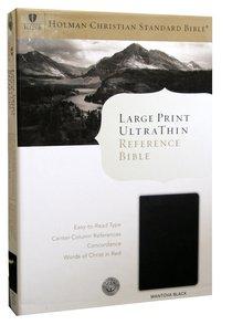 HCSB Large Print Ultrathin Bible Mantova Black Simulated Leather