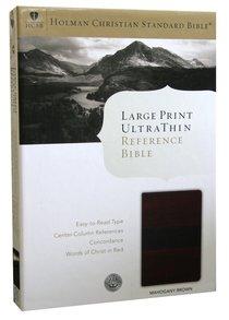 HCSB Large Print Ultrathin Bible Mahogany Simulated Leather