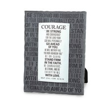 Badge of Faith Cast Stone Plaque: Courage