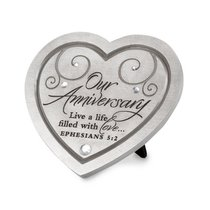 Plaque With Heart Cast Stone: Live a Life of Love