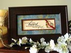 From the Heart Plastic Framed Art: Let Not Your Heart Plaque