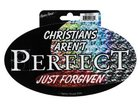 Sticker: Prismatic Foil Christians Aren't Perfect Novelty