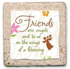 Sentiment Tiles: Friends/Angels Plaque