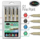 Pigma Micron 01 Bible Note Taking Pens Set: Blue Black Green & Red Stationery