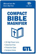 Compact Bible Magnifier: Luke 10:23 Scripture Imprint, Vinyl Sleeve Stationery