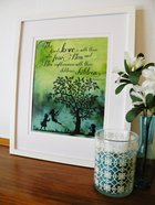 Medium Framed Print: Children Playing Swing Tree - the Lord's Love Psalm 103:17