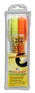 Bible Hi Glider Gel Stick Set:1 Yellow 1 Orange Gel Stick, Will Not Bleed Through