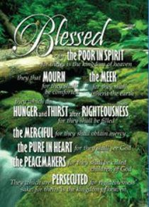 Poster Large: The Beatitudes, Blessed Are the Poor in Spirit