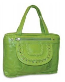 Bible Cover Fashion With Front Braided Pocket: Lime Xlarge