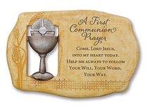 First Communion Prayer Plaque