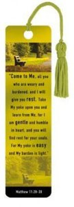 Tasseled Bookmark: Come to Me (Silver Foiled)