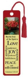 Tasseled Bookmark: But the Fruit of the Spirit Is; (Gold Foiled)