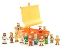 Galilean Boat With Apostles Play Set (Tales Of Glory Toys Series)