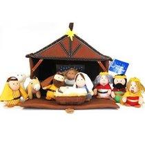Plush Nativity (11 Piece Play Set) (Tales Of Glory Toys Series)