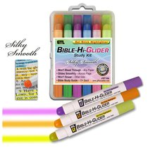 Bible Hi Glider Gel Stick Study Kit:6 Colours, Will Not Bleed Through