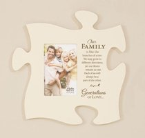 Puzzle Pieces Wall Art: Our Family (Holds 1 4x6 Photo)