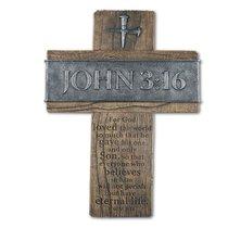 Large Wall Cross: John 3:16 (Polyresin)