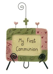 My First Communion Easel Plaque Pink