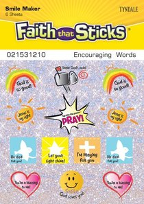 Encouraging Words (6 Sheets, 78 Stickers) (Stickers Faith That Sticks Series)
