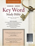 ESV Hebrew-Greek Key Word Study Bible Black Flexi Back