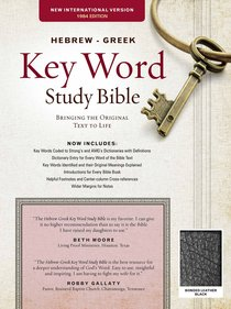 NIV Hebrew-Greek Key Word Study Bible (Black)