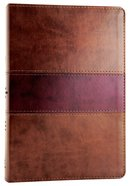ESV Gospel Transformation Bible Chocolate/Plum Trutone Trail Design (Black Letter Edition) Imitation Leather