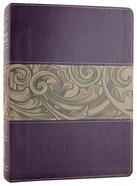 NKJV Holman Study Bible Eggplant/Tan (Full Colour) Premium Imitation Leather