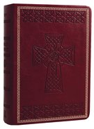 KJV Large Print Compact Reference Burgundy Premium Imitation Leather