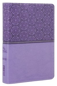 NIV Compact Thinline Bible Lavender Duo-Tone (Red Letter Edition)
