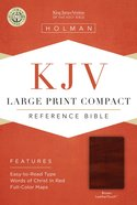 KJV Large Print Compact Reference Brown Bible Imitation Leather