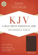KJV Large Print Personal Size Reference Bible With Magnetic Flap Brown Genuine Cowhide Genuine Leather