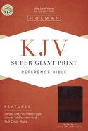 KJV Super Giant Print Reference Bible Saddle Brown Indexed Imitation Leather