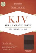KJV Super Giant Print Reference Bible Brown/Chocolate Leathertouch Imitation Leather