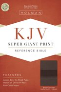 KJV Super Giant Print Reference Bible Brown/Chocolate Leathertouch Indexed Imitation Leather
