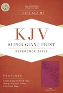 KJV Super Giant Print Reference Bible Pink Leathertouch Imitation Leather