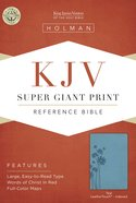 KJV Super Giant Print Reference Bible Teal Leathertouch Indexed Imitation Leather