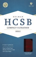 HCSB Compact Ultrathin Bible Classic Mahogany Leathertouch Imitation Leather