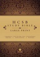 HCSB Large Print Study Bible Hardcover Hardback