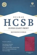 HCSB Super Giant Print Reference Bible Pink Leathertouch Indexed Imitation Leather