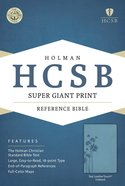 HCSB Super Giant Print Reference Bible Teal Leathertouch Indexed