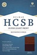 HCSB Super Giant Print Reference Bible Brown/Tan Leathertouch Imitation Leather