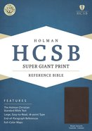 HCSB Super Giant Print Reference Bible Brown Genuine Cowhide Indexed Genuine Leather