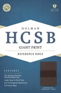HCSB Giant Print Reference Bible Brown/Chocolate Leathertouch Indexed Imitation Leather