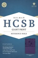 HCSB Giant Print Reference Bible Purple Leathertouch Indexed Imitation Leather