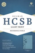 HCSB Giant Print Reference Bible Teal Leathertouch Indexed Imitation Leather