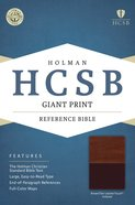 HCSB Giant Print Reference Bible Brown/Tan Leathertouch Indexed Imitation Leather