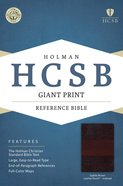 HCSB Giant Print Reference Bible Saddle Brown Leathertouch Indexed Imitation Leather